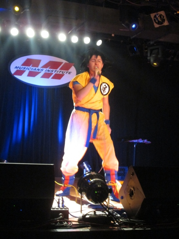 Mario Bueno performs as Son Goku. Photo credit Shana Hagood